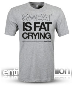 fat crying mens fitness crossfit tee