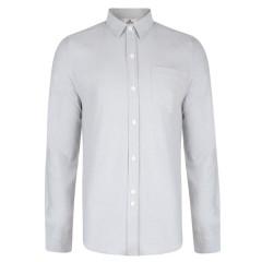Bellfield Mens Dunes Grey Long Sleeve Shirt