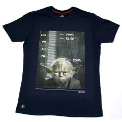 Chunk Star Wars Height Chart Yoda Funny T-Shirt Navy