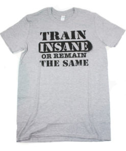 Train Insane Crossfit t-shirt Grey Marl