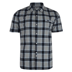 Bellfield Mens Hibernia Check Short Sleeve Shirt