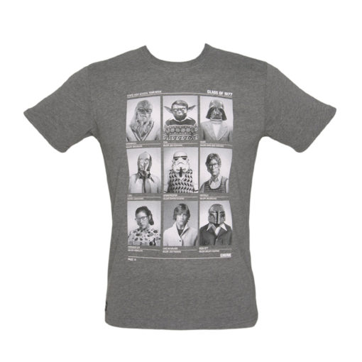 Chunk Mens Star Wars Class of 77 T-shirt Grey Marl