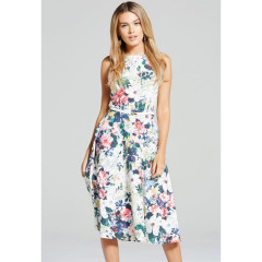 Paper Dolls Floral Print Fit And Flare Dress