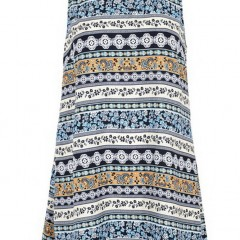 Glamorous Cream Navy Floral Stripe Dress