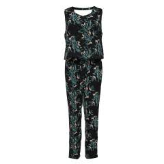 Only Jaqueline De Yong Beat It Black Flower Print Jumpsuit