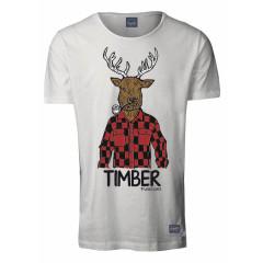 Jack & Jones Mens Eastwood Cloud Dancer Animal Print T-Shirt