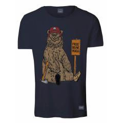 Jack & Jones Mens Eastwood Navy Blazer Animal Print T-Shirt