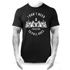 Tractor to Pull Mens T-Shirt Funny Slogan Black