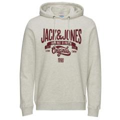 Jack & Jones Joroskar White Marl Hoody