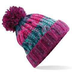Beechfield B486 Corkscrew Pom Pom Winter Warm Unisex Beanie Winter Berries