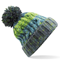 Beechfield B486 Corkscrew Pom Pom Winter Warm Unisex Beanie Electric Grey