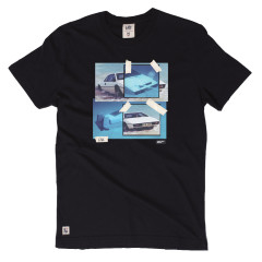 Chunk Mens Split Cars James Bond T-Shirt Black Lotus Esprit