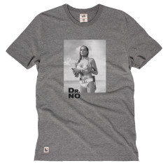 Chunk Mens Dr No James Bond T-Shirt Grey Marl Ursula Andress