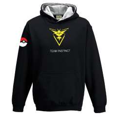 Pokemon Go Team Instinct Childrens Hoody Black Gaming