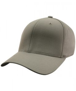 Yupoong Mens Grey Flexfit Baseball Cap