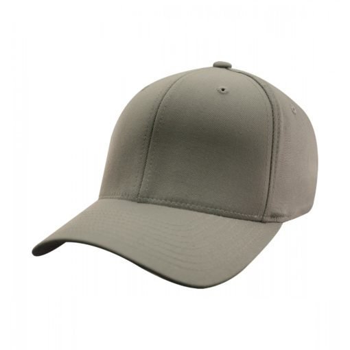 Yupoong Mens Grey Flexfit Baseball Cap