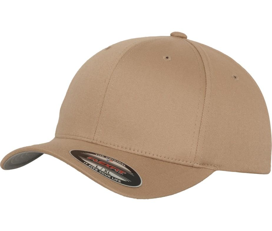 Yupoong Mens Khaki Flexfit Baseball Cap - IC Clothing 88324315029