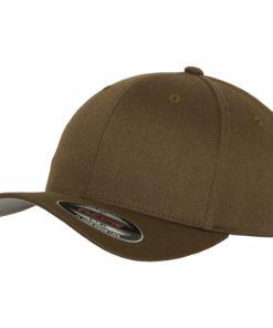 Yupoong Mens Olive Flexfit Baseball Cap