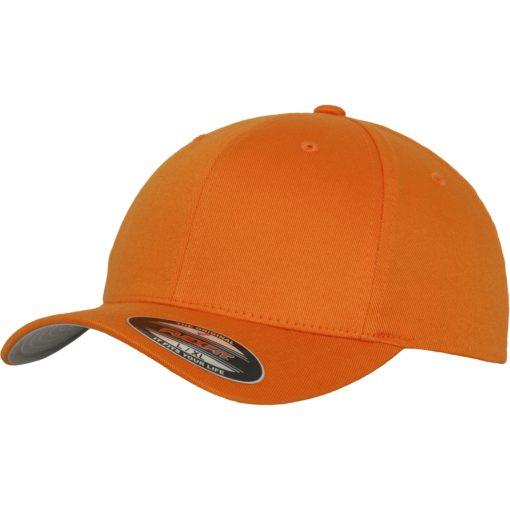 Yupoong Mens Orange Flexfit Baseball Cap