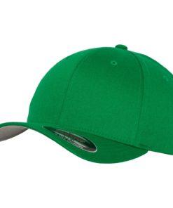 Yupoong Mens Pepper Green Flexfit Baseball Cap