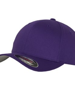Yupoong Mens Pepper Purple Flexfit Baseball Cap