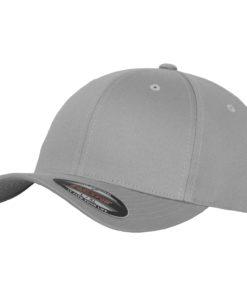 Yupoong Mens Silver Flexfit Baseball Cap
