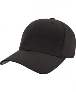 Yupoong Mens Black Flexfit Baseball Cap