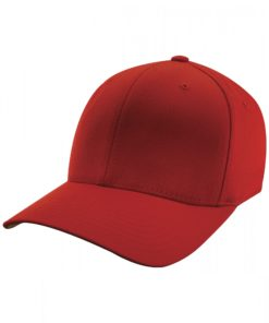 Yupoong Mens Red Flexfit Baseball Cap