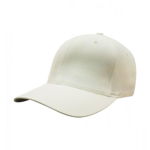 Yupoong Mens White Flexfit Baseball Cap
