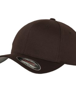 Yupoong Mens Brown Flexfit Baseball Cap