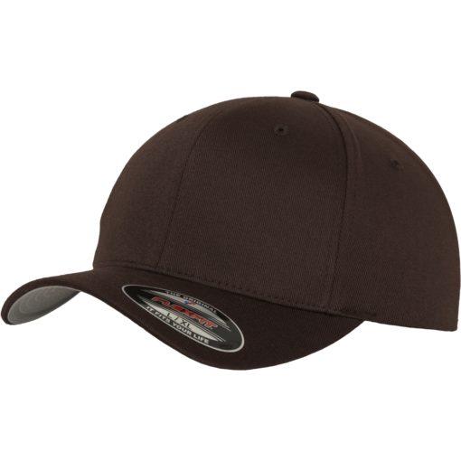 Yupoong Mens Brown Flexfit Baseball Cap