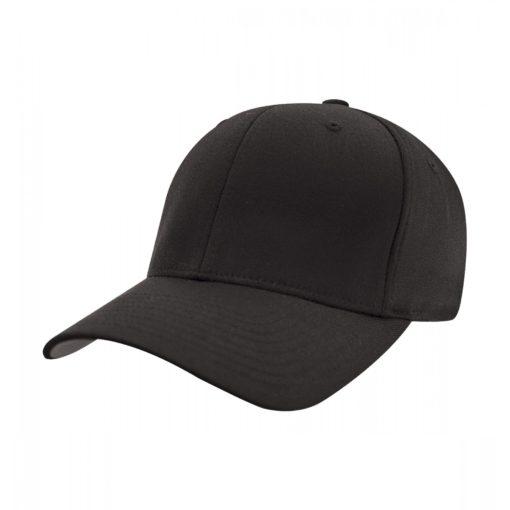 Yupoong Mens Black Flexfit Baseball Cap