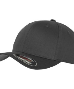 Yupoong Mens Dark Grey Flexfit Baseball Cap