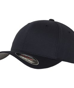 Yupoong Mens Dark Navy Flexfit Baseball Cap
