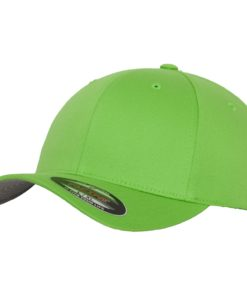 Yupoong Mens Fresh Green Flexfit Baseball Cap