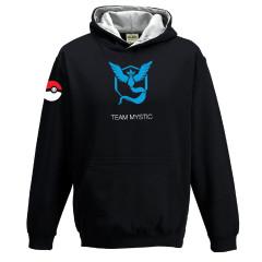 Pokemon Go Team Mystic Childrens Hoody Black Gaming