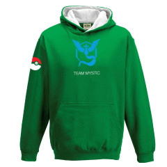 Pokemon Go Team Mystic Childrens Hoody Green Gaming