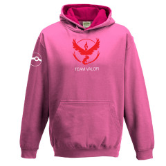Pokemon Go Team Valor Childrens Hoody Pink Gaming