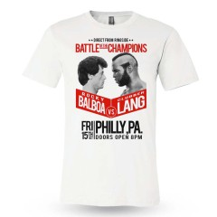 Rocky Balboa Vs Clubber Lang Film Rocky III Premium Boxing Traning T-Shirt White