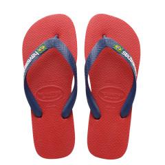 Havaianas Mens Brasil Logo Red Flip Flops
