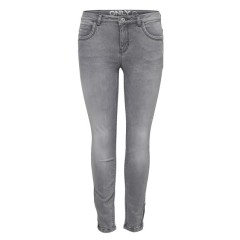 Only Kendell Grey Skinny Ankle Zip Jeans