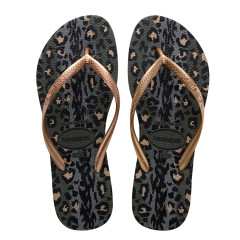 Havaianas Womens Slim Animals Green Olive