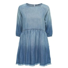 Only Sonia Light Blue Ombre Denim Dress