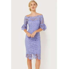 Paper Dolls Blue Crochet Lace Dress