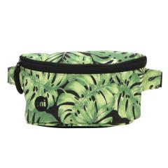 Mi Pac Womens Festival Bum Bag Tropical Leaf Black