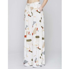 Native Youth Womens Organic Displacement Wide Leg Trousers