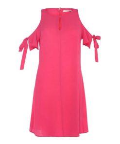 Glamorous Hot Pink Cold Shoulder Dress