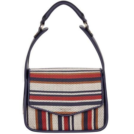 Fiorelli Dakota Navy Weave Shoulder Bag
