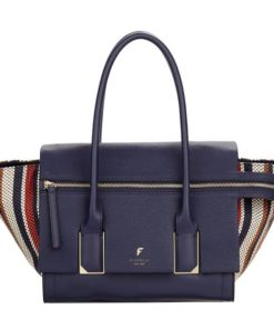 Fiorelli Soho Navy Weave Large Shoulder Bag