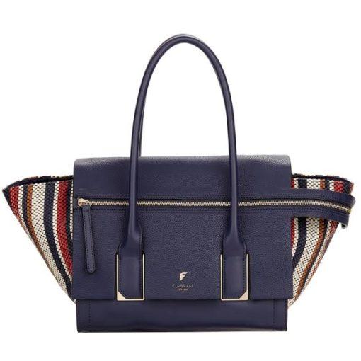 Fiorelli Soho Navy Weave Large Shoulder Bag